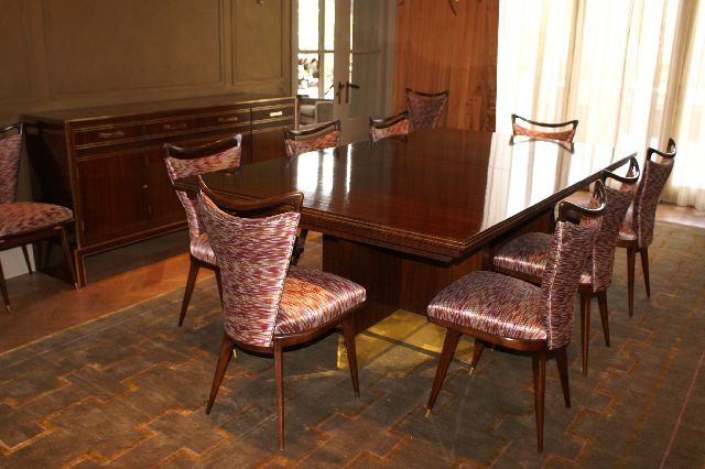 Indian Rosewood And Brass Inlaid Side Cabinet Dining Table Chairs An Extending