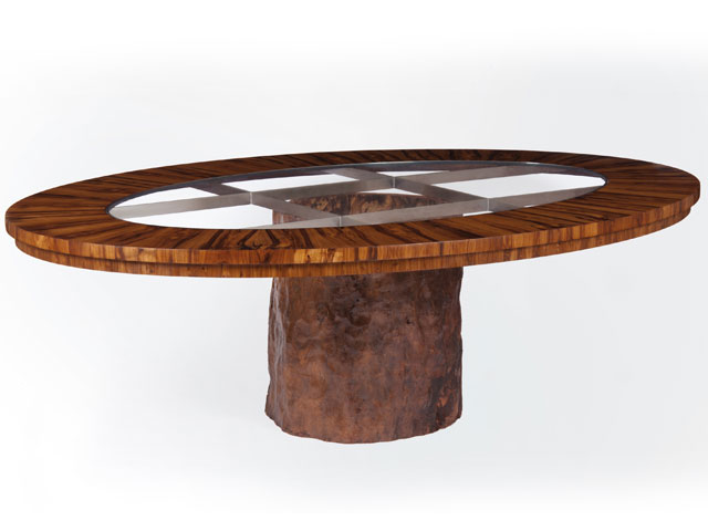 Laburnam oval dining or centre table
