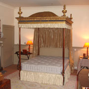 Upholstery and hangings for four poster bed